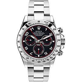 Rolex Pre Owned Steel Daytona 116520 Custom Arabic Racing Watch