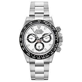 Rolex Pre Owned Custom Ceramic Daytona 116520 White Watch