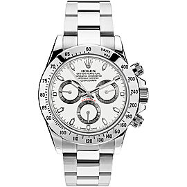 Rolex Pre Owned Steel Daytona 116520 White Watch