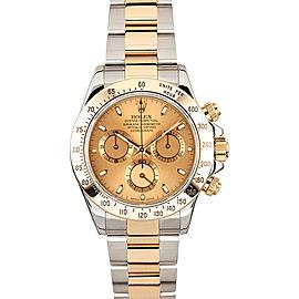 Rolex Yellow Gold Daytona 116523 Champagne Watch