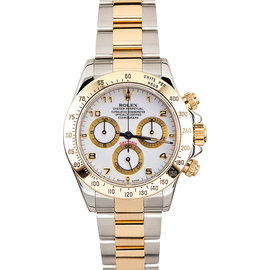 Rolex Yellow Gold Daytona 116523 White Watch