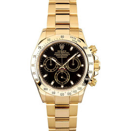Rolex Yellow Gold Daytona 116528 Black Watch