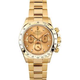 Rolex Yellow Gold Daytona 116528 Champagne Watch