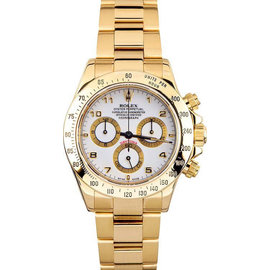 Rolex Yellow Gold Daytona 116528 White Watch