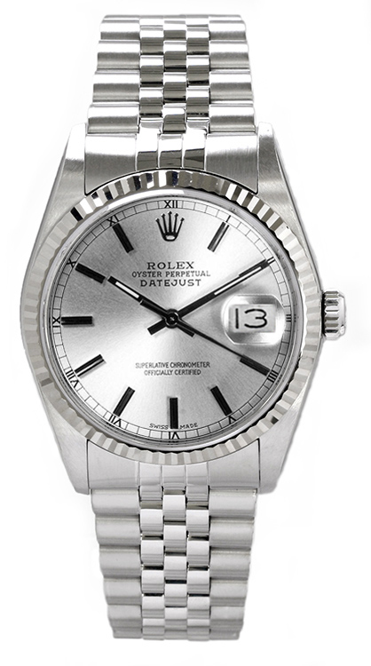 """Image of """"Rolex Men's Datejust Stainless Steel Silver Index Dial Watch"""""""