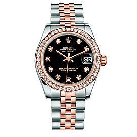 Rolex New Style Datejust Midsize Two Tone Custom Diamond Bezel & Diamond Dial on Jubilee Bracelet P178271BDDJ Watch