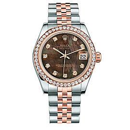 Rolex New Style Datejust Midsize Two Tone Custom Diamond Bezel & Diamond Dial on Jubilee Bracelet P178271BMOPDDJ Watch