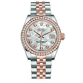 Rolex New Style Datejust Midsize Two Tone Custom Diamond Bezel & Diamond Dial on Jubilee Bracelet P178271MOPDDJ Watch