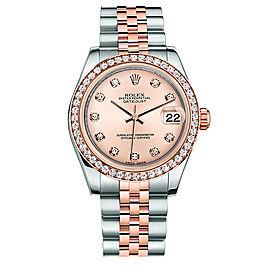 Rolex New Style Datejust Midsize Two Tone Custom Diamond Bezel & Diamond Dial on Jubilee Bracelet P178271RDDJ Watch