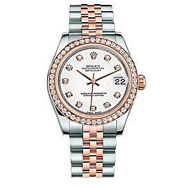 Rolex New Style Datejust Midsize Two Tone Custom Diamond Bezel & Diamond Dial on Jubilee Bracelet P178271WDDJ Watch