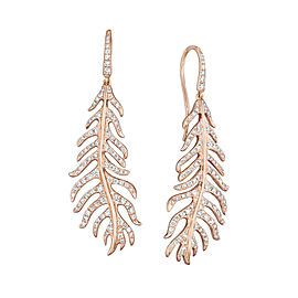 18K Gold Phoenix Large Pave Earrings