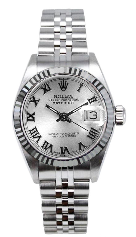 "Image of ""Rolex Women's Datejust Stainless Steel Silver Roman Dial Watch"""