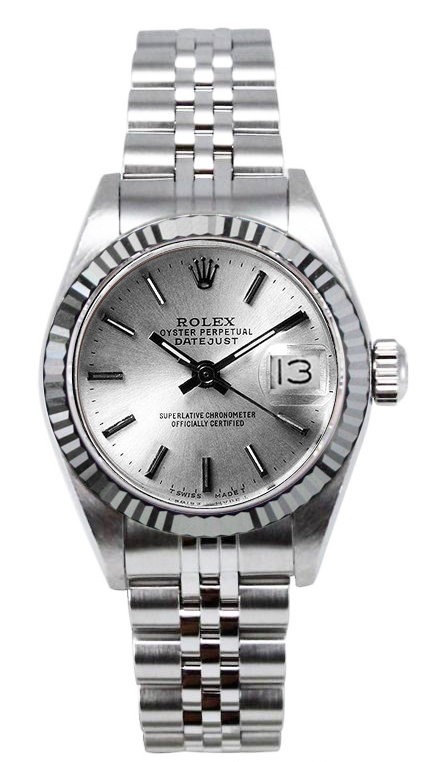 """Image of """"Rolex Women's Datejust Stainless Steel Silver Index Dial Watch"""""""