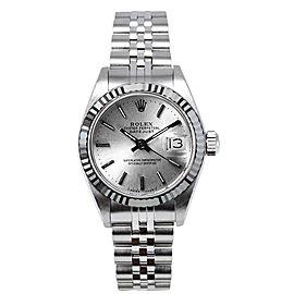 Rolex Women's Datejust Stainless Steel Silver Index Dial Watch