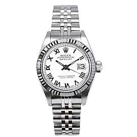 Rolex Women's Datejust Stainless Steel White Roman Dial Watch