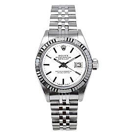 Rolex Women's Datejust Stainless Steel White Index Dial Watch