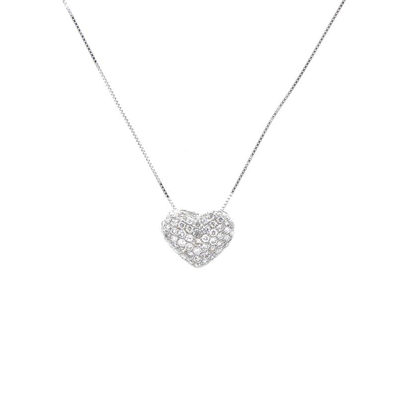 """""Espresso Diamond Heart Pendant"""""" 10504"