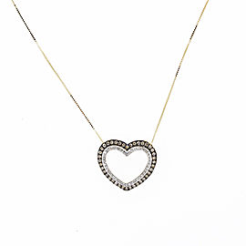 Espresso Double Heart Necklace Pendant