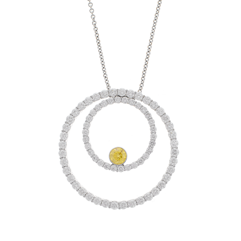 "Image of ""18K John Reinhold Diamand Pendant"""