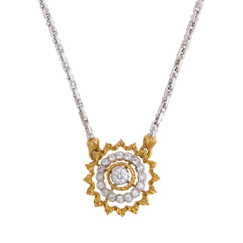 "Image of ""18K Yellow Gold Buccellati Andromeda Design Diamond Pendant Necklace"""