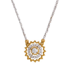 18K Yellow Gold BUCCELLATI Andromeda Design Diamond Pendant Necklace