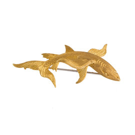 Yellow Gold BUCCELLATI Shark Pin Brooch