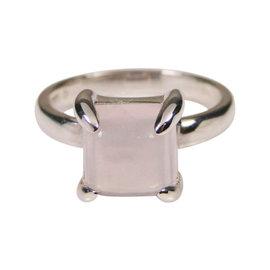 Tiffany & Co. Sterling Silver & Rose Quartz Ring