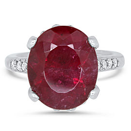 Oval Rubellite Ring