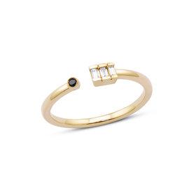 Sadie Pearl Diamond Baguette Ring
