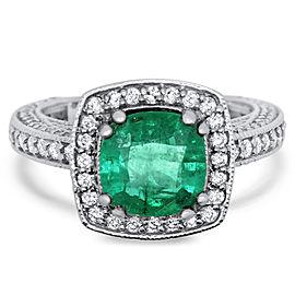 Cushion Emerald Ring