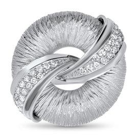 Diamond Wrapped Circle Ring