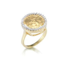 14 Karat Yellow Gold Matte-finish Gallery Ring