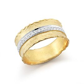 14 Karat Yellow Gold Matte-finish Ring