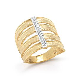 14 Karat Yellow Gold Matte-finish Cut-out Ring
