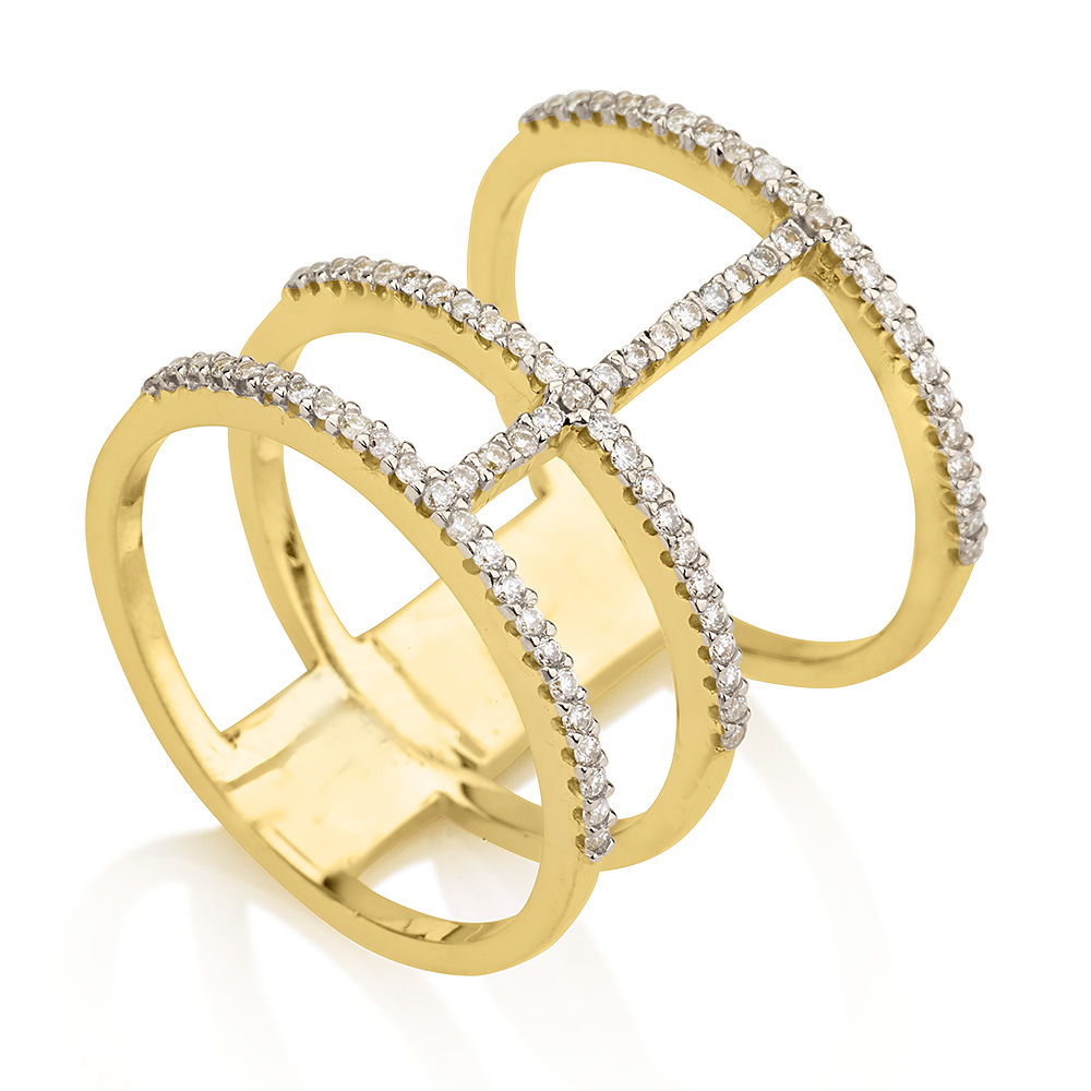 "Image of ""Yellow Gold Polish-finish Diamond Ring"""