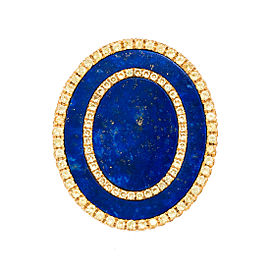18k Yg Double Oval Lapis and Yellow Sapphire Tivoli Ii Ring