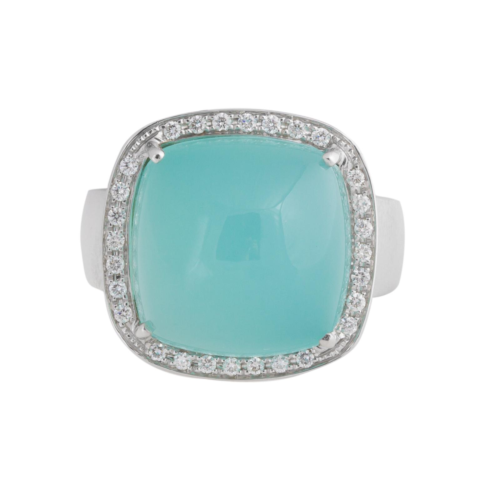 "Image of ""Rina Limor Aqua Chalcedony ring"""