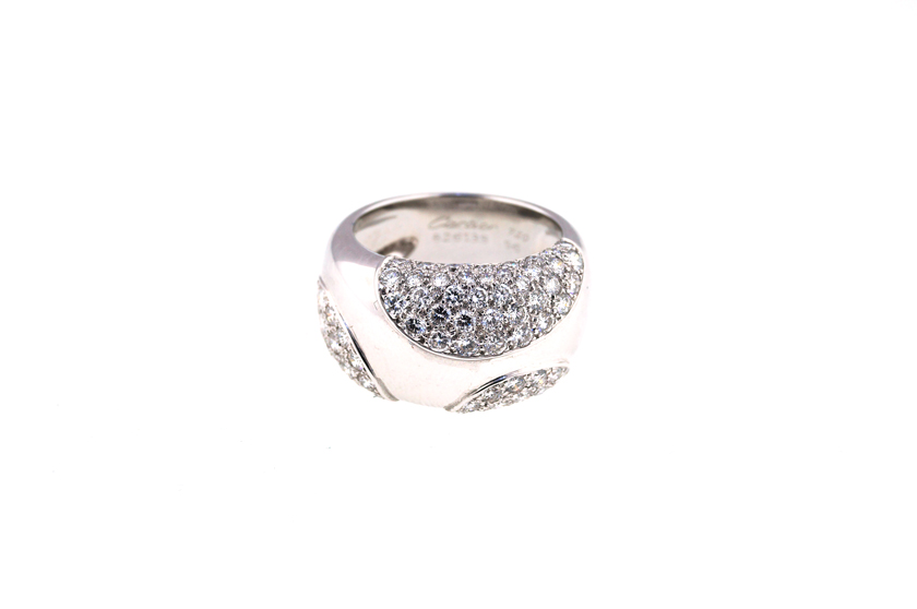 "Image of ""18K Cartier Nouvelle Vague Diamond Ring"""
