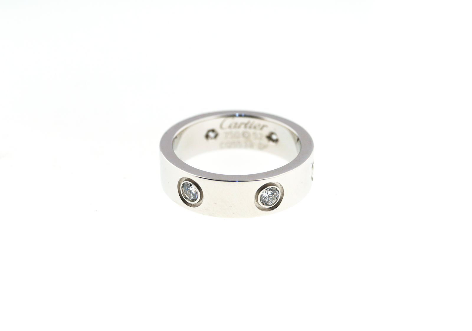 "Image of ""18K White Gold Cartier Love Diamond Ring"""