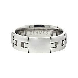 Hermes 18k White Gold H Ring