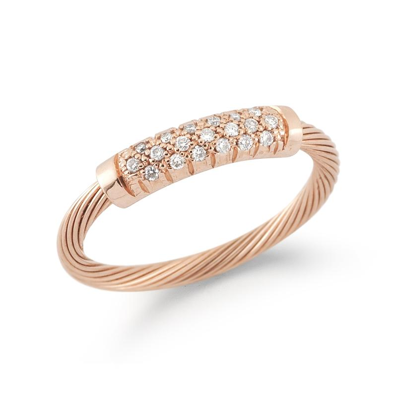 "Image of ""14 Karat Rose Gold Wire id Ring"""