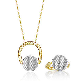 Yellow Gold and Diamond Medium Infinity Revolution Ring/Necklace