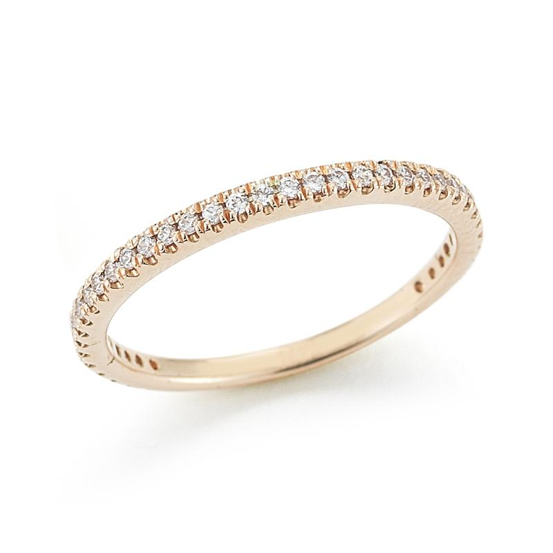 "Image of ""14 Karat Rose Gold Polish-finish Stackable Diamond Ring"""