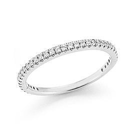14 Karat White Gold Polish-finish Stackable Diamond Ring