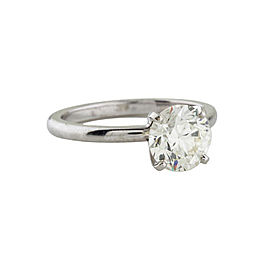 Platinum 1.83ct Diamond Solitaire Engagement Ring Sz 6.75