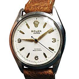 Rolex Oyster Royal Shock Resistant 6444 Vintage Mens 31mm Watch