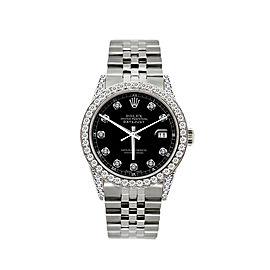 Rolex Datejust Stainless Steel Diamond 36mm Watch