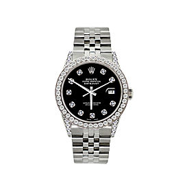 Rolex Datejust 5ct Diamond Mens Watch