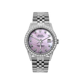 Rolex Datejust Stainless Steel Diamond 36mm Watch