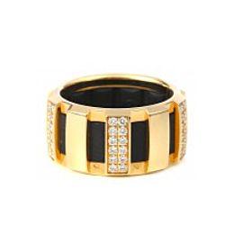 Chaumet 18K Yellow Gold and Diamond Ring